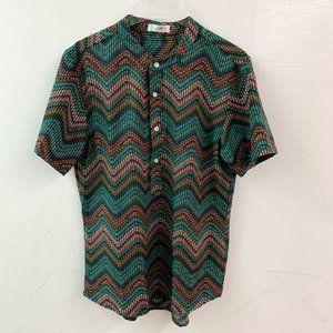 chArmkpR Men's M Modern Multi Stripe Polo Shirt